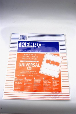 KENRO 120mm (clear print -through) STORAGE NEGATIVE PAGES 25 SHEETS