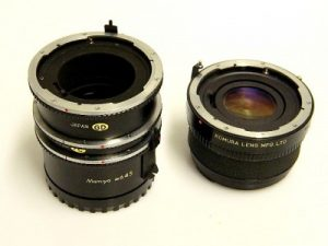 MAMIYA 645 EXTENSION RING SET+KOMURA TELECONVERTER***