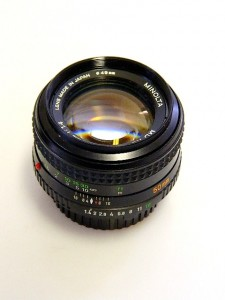 MINOLTA MD ROKKOR 50mm f1.4 LENS***