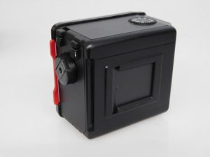 MAMIYA 645 PRO 35MM BACK RED DARK SLIDE INC CASE ***