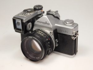 MINOLTA SR-1s + meter attachment 55mm f2***