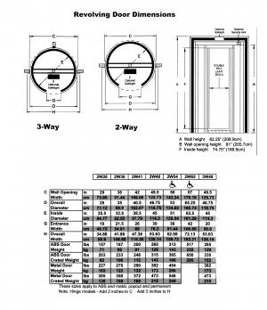 ESECO 2W48(1.2m width) DARKROOM REVOLVING DOOR***