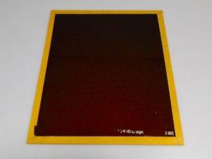 ILFORD 10X12″ GLASS S 902 LIGHT BROWN SAFELIGHT FILTER***