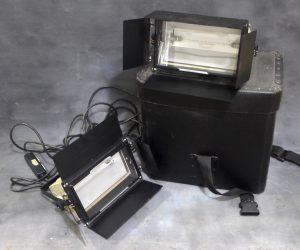 BEARD STUDIO 1250W LIGHTS WITH BARN DOORS X2**
